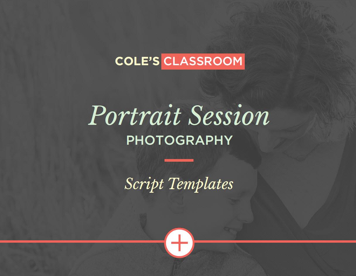 Portrait Session Script Templates The easy
